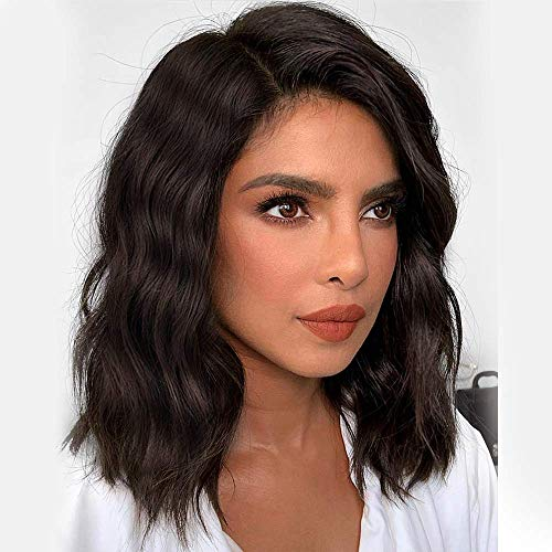 BEEOS Lace Front Short Bobs Wavy Wigs Brazilian Hair