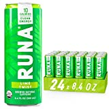 Organic Clean Energy Drink by RUNA, Lime | Refreshing Tea Taste | 10 Calories | Powerful Natural Caffeine | Healthy Energy & Focus | No Crash or Jitters | 8.4 oz (Pack of 24)