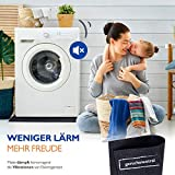 Zuschneidbare Antivibrationsmatte für Waschmaschinen, Trockner u.v.m. | Größe 60cmx60cmx6mm | Auch als Antirutschmatte, Waschmaschinenunterlage & Schalldämmung geeignet | MADE IN GERMANY - 8