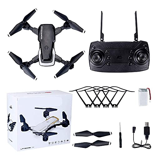 Drone Wifi FPV HD Camera, El mejor dron para principiantes con retención de altitud, control de voz, fotografía de reconocimiento de gestos, trayectoria de vuelo, volteretas 3D, modo sin cabeza, oper