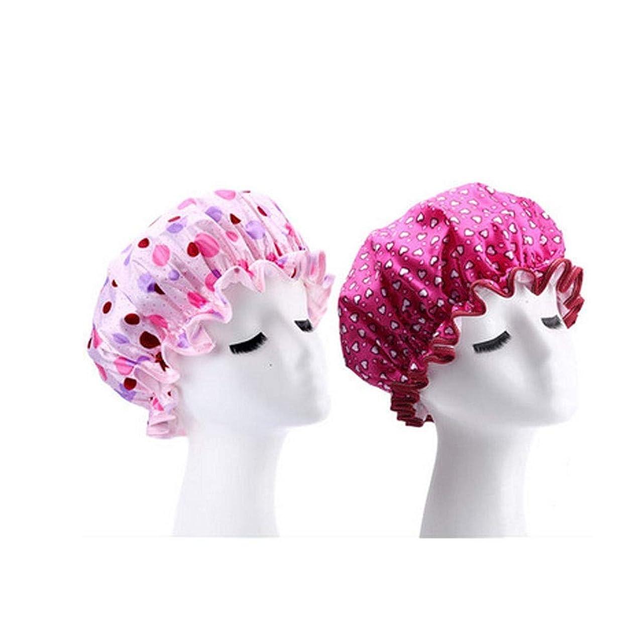 サイクロプスレスリングアナロジーJINSHANDIANLIAO シャワーキャップ、レディースシャワーキャップレディース用のすべての髪の長さと太さのデラックスシャワーキャップ - 防水とカビ防止、再利用可能なシャワーキャップ。 (Color : 2)