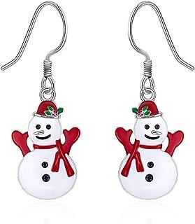 Winter Snowman Earrings