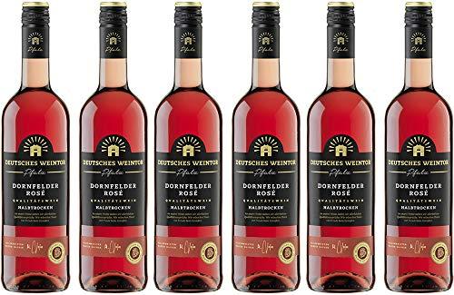 Deutsches Weintor Dornfelder Roséwein Halbtrocken (6 x 0.75 l)