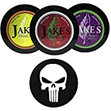 Jake's Mint Chew Cherry, BlackBerry, Kola 3 Can Variety Pack with DC Crafts Nation Skin Can Cover - Punisher