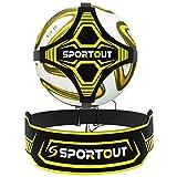 Sportout Football Kick/Ballon Football Ceinture D'entraînement, Ballon de Foot Entrainement avec Élastique Ceinture Ajustable Solo Kicking Pratique pour Jeux Exterieur Enfant et Adulte Entraineur