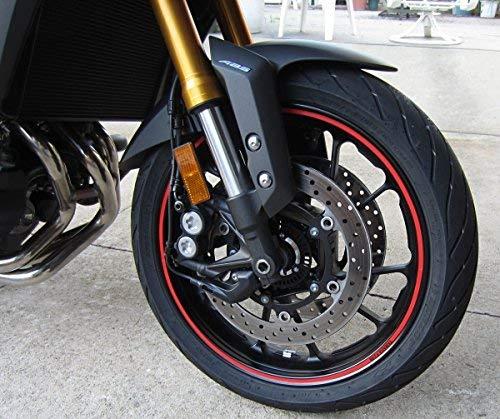 StickersLab - Strisce Moto adesive cerchi rifrangenti riflettenti marca 3M™ stripe for wheel 7mm x 6MT (Rosso)