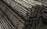 Barra perforada en hierro forjado con acabado pulido...
