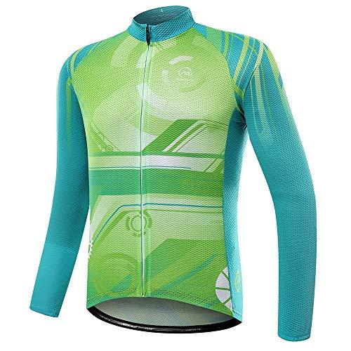BESTSOON-AJ Frauen Radfahren Oben Männer und Frauen Fallen langärmelige Hemden, Reitanzüge, Feuchtigkeitstransport, schnell trocknende Mountainbike-Bekleidung (Farbe : A1, Größe : M)