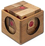 Vegas Baby: Soma Cube Dice Puzzle - Handmade & Organic 3D Brain Teaser Wooden Puzzle for Adults from SiamMandalay with SM Gift Box(Pictured)