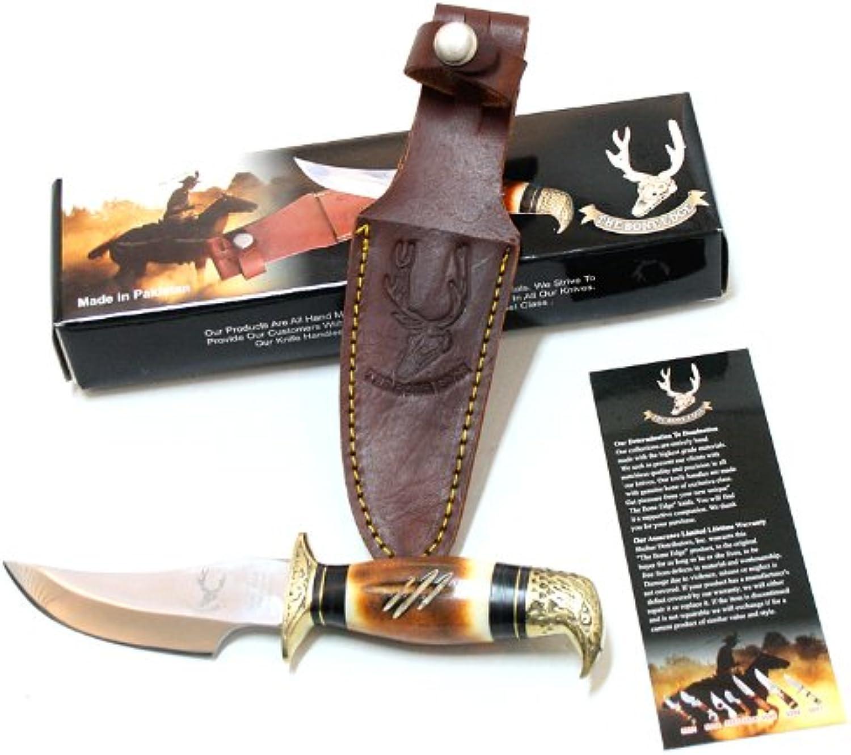 8  Eagle Head Skinner Knife Bone Handle Hunting Knife