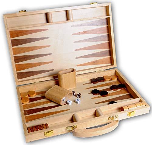 Engelhart - 150536 - Jeu de Backgammon en bois marqueté plia