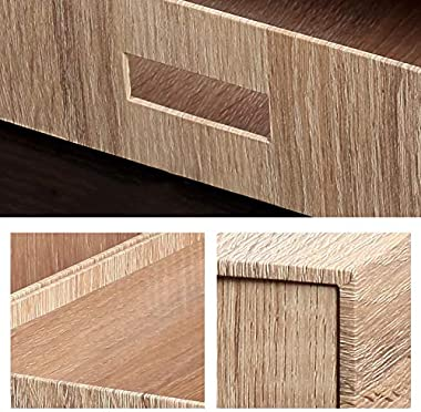 Storage Bins, Large Simple Lightweight Robust Natural Seal Portable Push-Pull Desktop Organiser Drawer Container Box (Color :