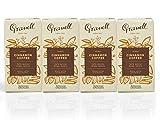 Cafés Granell 1940 - Cafe Canela   Pack Café Molido Canela, Cafe Molido Natural - Arabica 100%, Cafe con Aromas   Café Sabores - 4 x 250 gr
