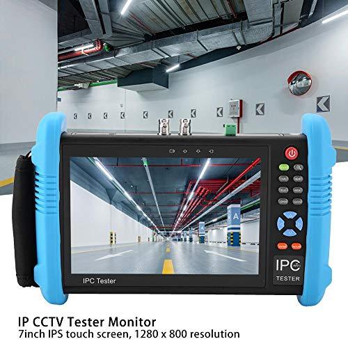 CCTV-tester IPC-9800 Plus Serie 7 inch IP-CCTV-tester 4K H.265 TVI CVI AHD analoog AC 100-240V CCTV tester monitor analoge camera tester EU stekker, krachtig, energiebesparend (IPC-9800ADHS Plus)