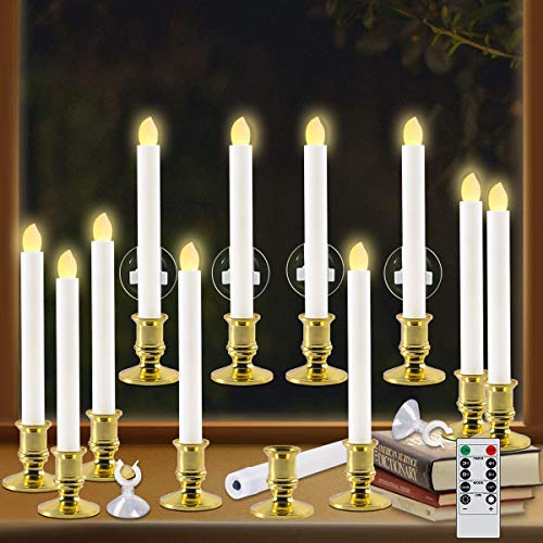 Windows Candles with Remote Timer Battery Operated Flickering LED...