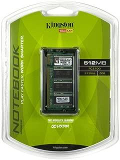 Kingston ValueRAM 512MB 333MHz PC2700 DDR Notebook Memory (KVR333SO/512R)