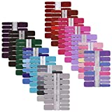 14 Sheets Solid Color Full Nail Strips Art...