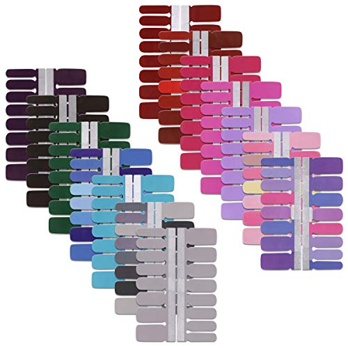 14 Sheets Solid Color Full Nail Strips Art Polish Stickers Nails Decal...