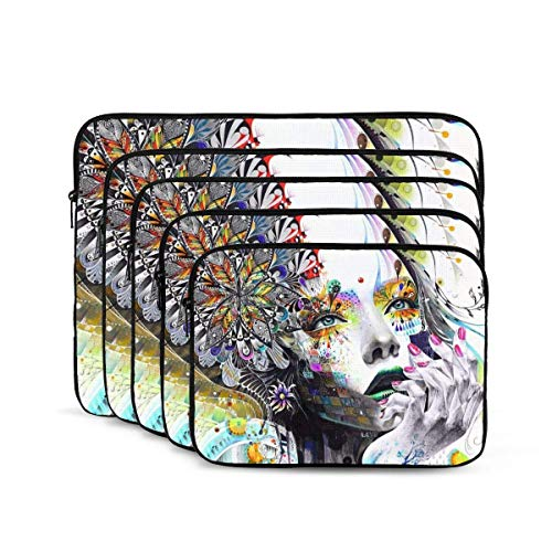 Abstract Modern Girl Print Laptop Sleeve, Shock Resistant Notebook Briefcase, Tablet Carrying Case for MacBook Pro/MacBook Air/Asus/Dell/Lenovo/Hp/Samsung 12 inch