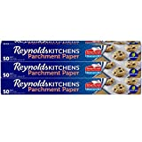 Reynolds Kitchens Parchment Paper Roll with SmartGrid, 3 Packs of 50 Square Feet, (150 Square Feet Total)