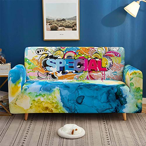 Stretch Covers For Sofa Couch Elastic Spandex Special Printed 1/2/3/4 Seater Sofa Cover Armchair Slipcovers Furniture Protector for Children Pet,3,seater 190,230cm