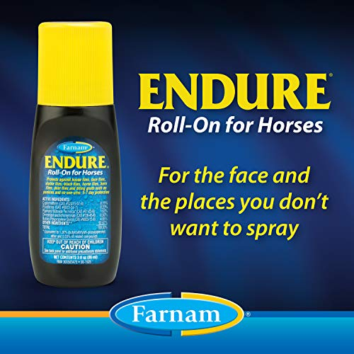 Farnam Endure Sweat-Resistant Fly Spray for Horses 14-day Long Lasting Protection, 3 oz. Roll On