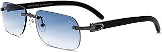 Buffalo Horn Handmade Sun Glasses Square Rimless Luxury Sunglasses 0816