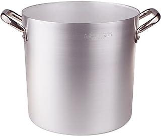 Ollas Agnelli Pan de Aluminio, con Dos Asas de Acero Inoxidable, 20 litros, Plata