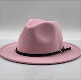 Cowbow Fedora Hat Wool Felt Narrow Leather Bandwidth Side Gentleman Elegant Ladies Winter Autumn Jazz Hat Fedora