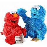 Betory 2 Juguetes Peluche Barrio Sésamo, Elmo el Monstruo Las Galletas Muppets 23 cm, muñecos Peluche, Juguetes Peluche Elmo Monstruo Las Galletas,cumpleaños niños Regalo Navidad Halloween