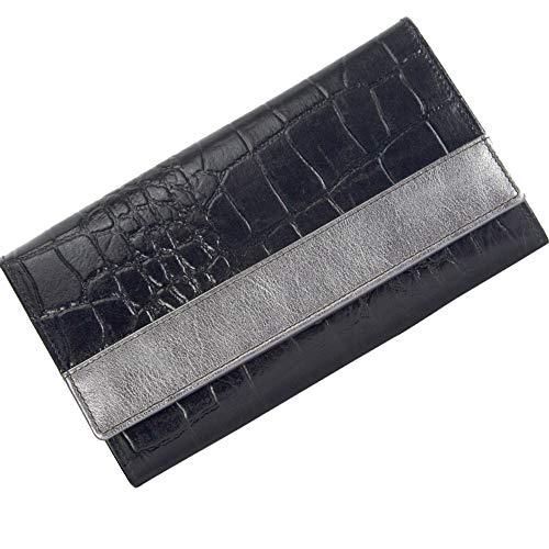 Sunsa Geldbörse für Damen Kleiner Leder Geldbeutel Portemonnaie mit RFID Schutz Brieftasche mit viele Kreditkarten Fächer Geldtasche Wallet Purses for Women das Beste Gift kleine Geschenk 81467