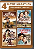 4-Movie Marathon: Classic Western Collection (The Texas Rangers / Canyon Passage / Kansas Raiders / The Lawless Breed)