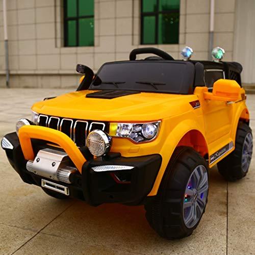 FP-TECH Auto ELETTRICA per Bambini Macchina Jeep 2 POSTI 4WD 12V con Telecomando USB MP3 (Arancione)