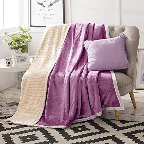 GC&& Dick Halten Warm Decken für Sofas In Winter Mit Super Weich Waffel Strukturierte Muster,Flanell Fleece Werfen Blanket Für Sofas Stühle Couch