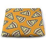 Houity Pilzkissen mit Pizza-Muster, 100% Polyester, quadratisch, mit Kissenkern, Stuhlkissen,...