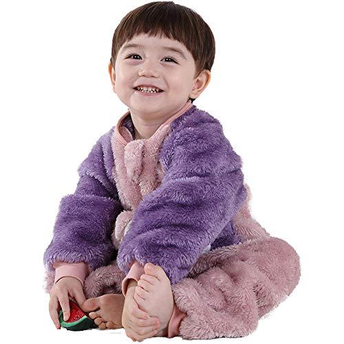 gefütterter Außensack,Kinderschlafsäcke, mehrjährige Kinderpyjamas für kleine Jungen und Mädchen-lila_105-115 cm