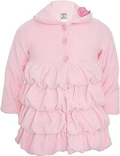 Mack & Co Girl's Rosette Ruffle Soft Fleece Coat K-7