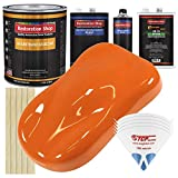 Restoration Shop - Omaha Orange Urethane Basecoat with Clearcoat Auto Paint - Complete Medium Gallon Paint Kit - Professional High Gloss Automotive, Car, Truck Refinish Coating