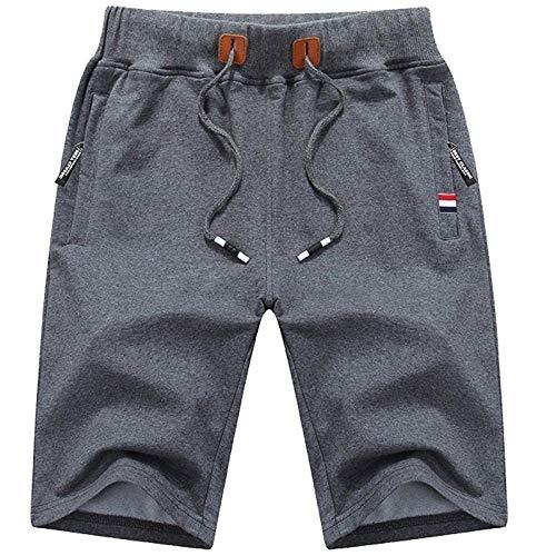 XBTECH Pantalon Court Homme,Hommes Shorts Bermudas Cargo Outdoor Coton Casual Lâche avec Poche