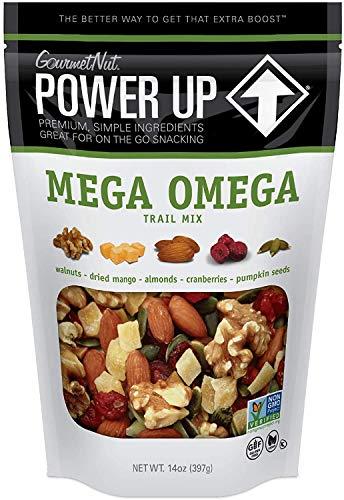 Power Up Trail Mix Gourmet Nut Bag, Mega Omega, 14 Ounce
