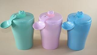 Pet Water Dispenser Cute Dog Food Barrel Seal Cat Food Bucket Barrel Storage(Pink) Cat Travel Drink Bottle