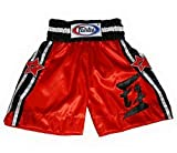 Bangplee_Sport Fairtex Model BT18 Boxing Trunks - Satin Red Color for Boxing,...