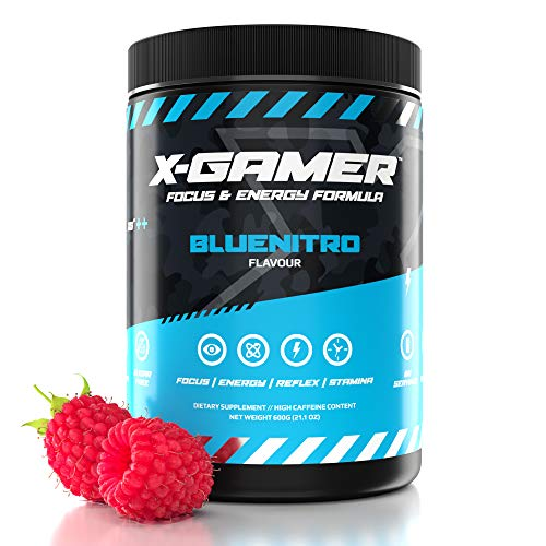 X-Gamer X-Tubz - Gaming Booster Pulver - Shake It Yourself - 600g (60 servings) (Bluenitro)