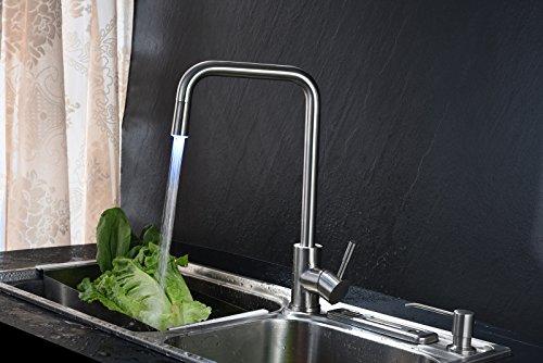 Bijjaladeva Antike Küche Spülbecken Küche Wasserhahn Temperaturregelung Color Mixer Edelstahl 304 Wasserhahn Mischen von heißem und kaltem Wasser Küche Wasserhahn Led
