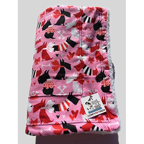Schnauzer Blanket Pink Dog Bedding Size 39x29 Travel Bedding for Pets Washable Easy Care