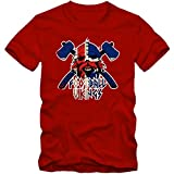 Shirt Happenz Islandia Campeonato De Europa 2016#17 Camiseta   Hombre   Fútbol   Island   Jersey   Knattspyrna   Vikingo   Equipo Nacional, Couleur:Rot (Red L190);Taille:X-Large