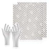 C-lean House 2 Stück Dunstabzugs Filter mit Sättigungs-Indikator Flachfilter Comfort - Packung incl. Wechselhandschuhe Persönlicher Zuschnitt, 47 x 57 cm