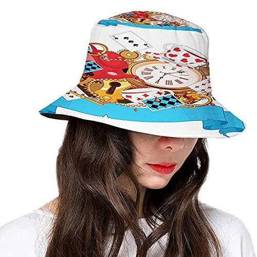 Sombrero de cubo de poliéster,Bajo Manhattan Skyline Brooklyn Bridge en la ciudad de Nueva York famoso punto de referencia,Sombreros de ala ancha Mujeres Hombres Adolescentes