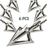 JIANZD Archery Broadheads 100 Grain Fixed Blades Stainless Steel Hunting Broadheads for Crossbow...