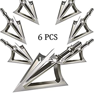 JIANZD Archery Broadheads 100 Grain Fixed Blades Stainless Steel Hunting Broadheads for Crossbow Recurve Bow and Compound Bow